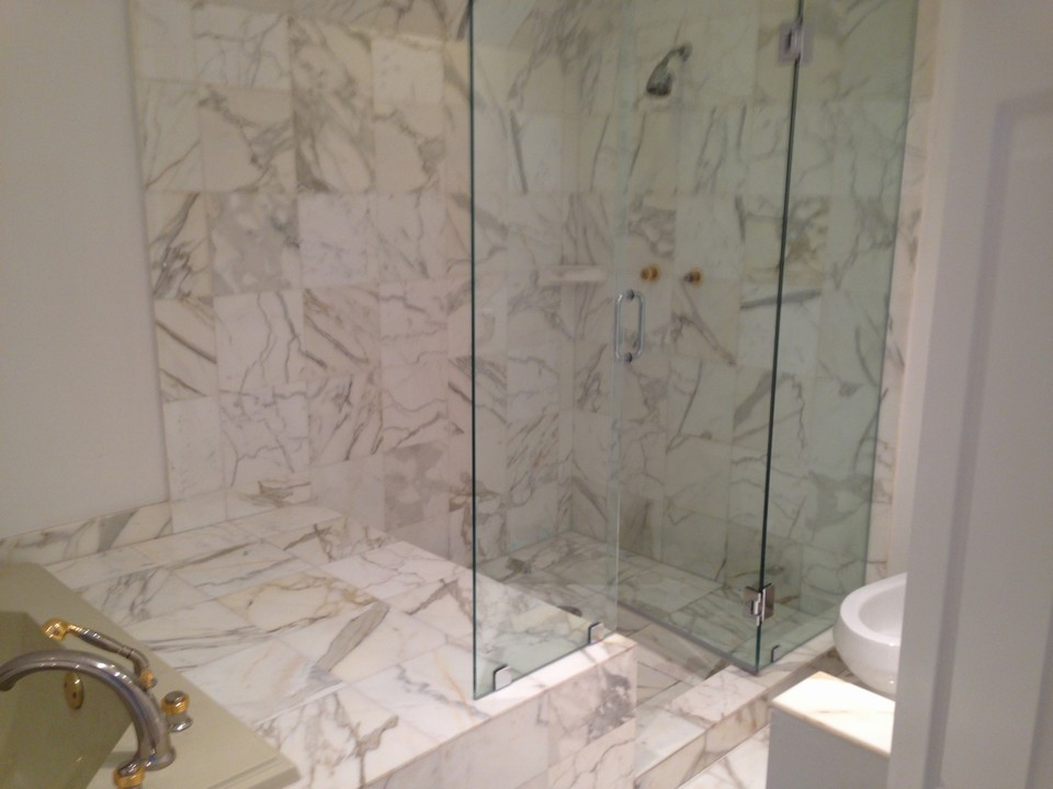 shower master bathroom